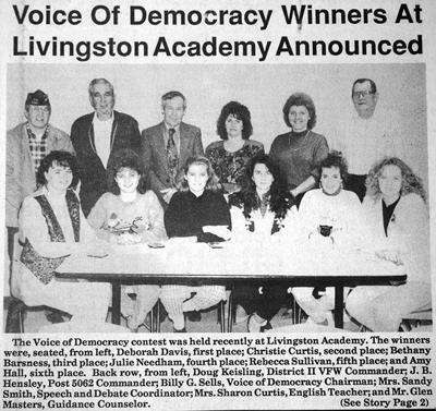 30 years ago in Overton County News January 10, 1990