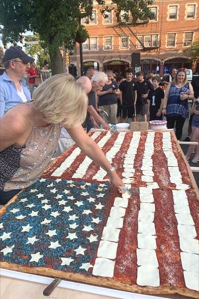 Flag pizza may be largest