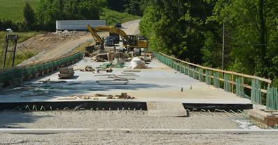 """Old 42"" bridge work nears completion"