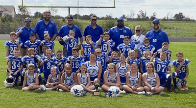 OC Outlaws PeeWee team wins championship 7-0