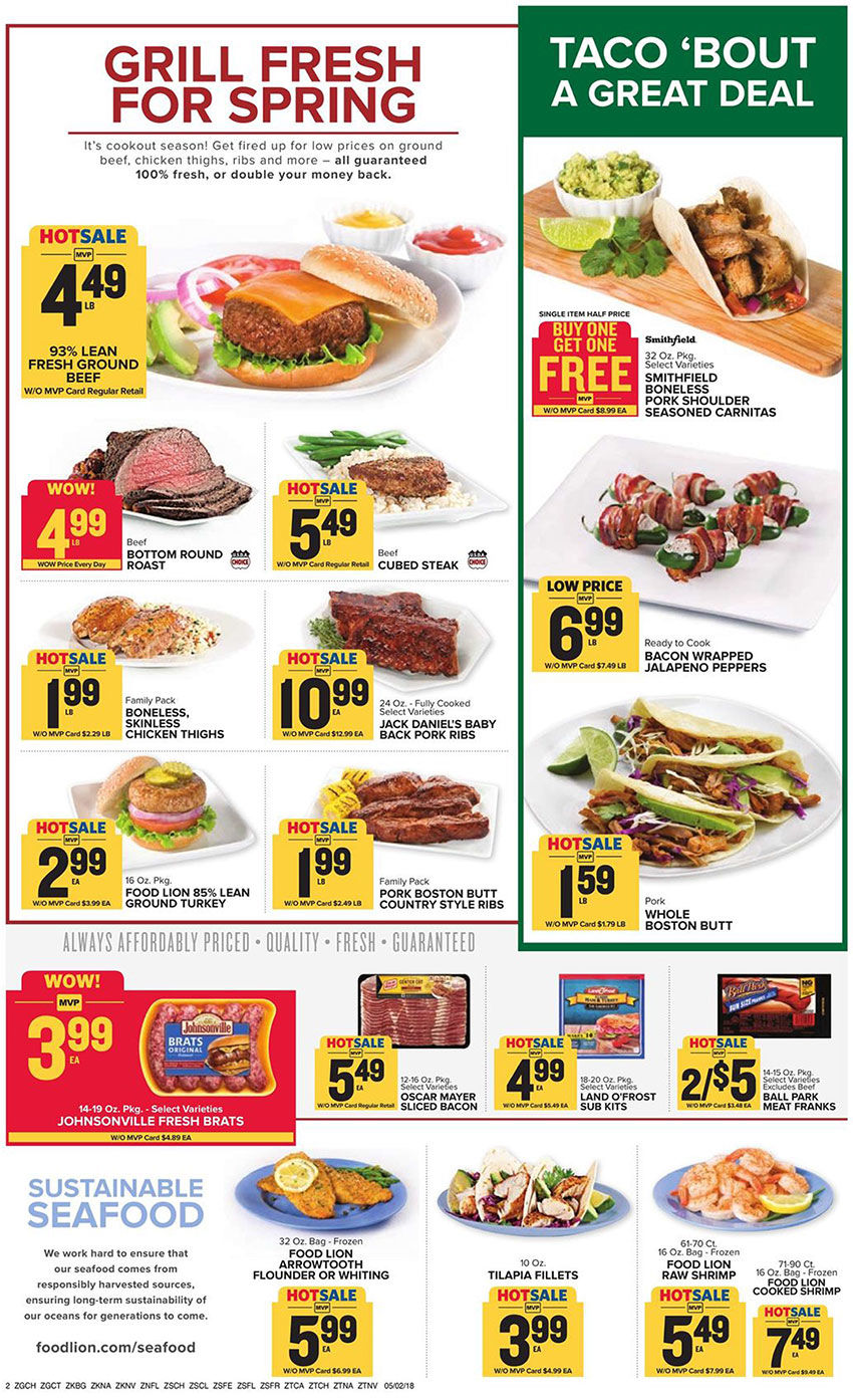 Food Lion Weekly Ad | | overtoncountynews com