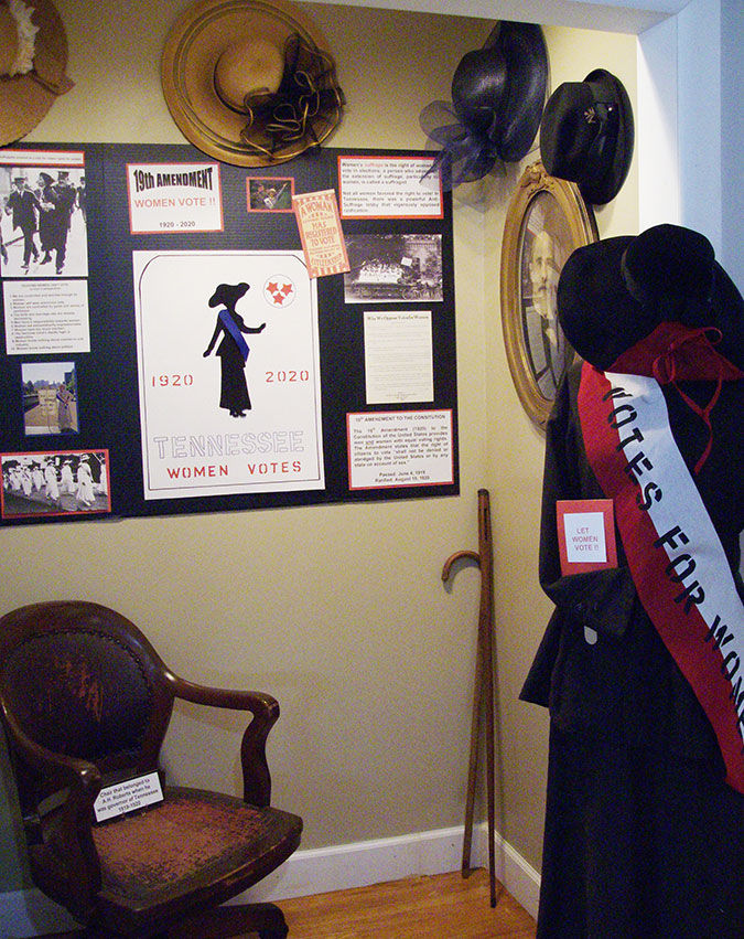 Displays celebrate 100th anniversary of 19th Amendment, Women's Right to Vote