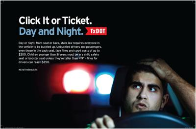 TxDOT 'Click It or Ticket' campaign begins Monday