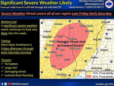 National Weather Service says severe weather threat continues Friday