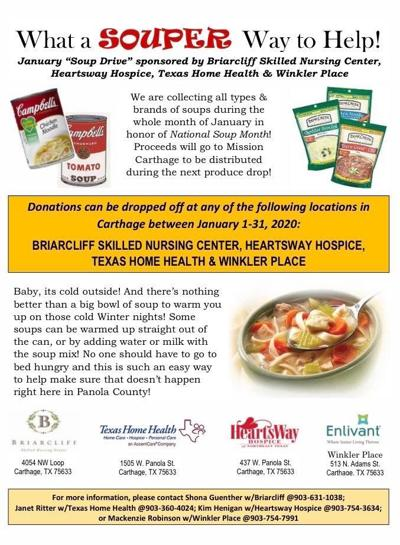 January soup drive to benefit Mission Carthage