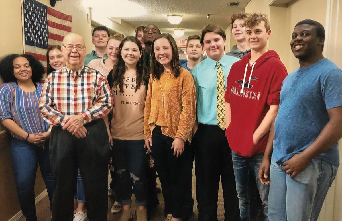 National Junior Honor Society students deliver cards to The Wink