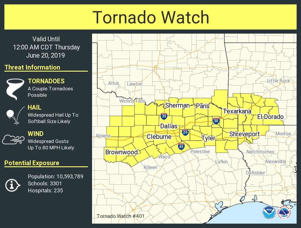Live Weather Blog: Tornado watch issued Wednesday in Panola County