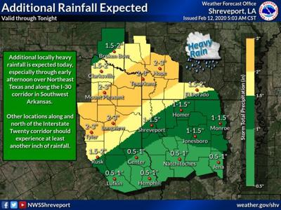 NWS: Break in rain coming Thursday, but storms return this weekend