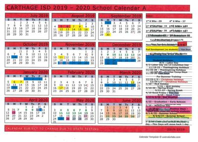 When Is The Carthage Christmas In 2020 Carthage ISD adopts 2019 2020 school calendar | News