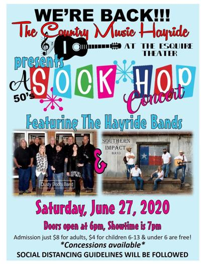 Country Music Hayride plans 50's style sock hop concert