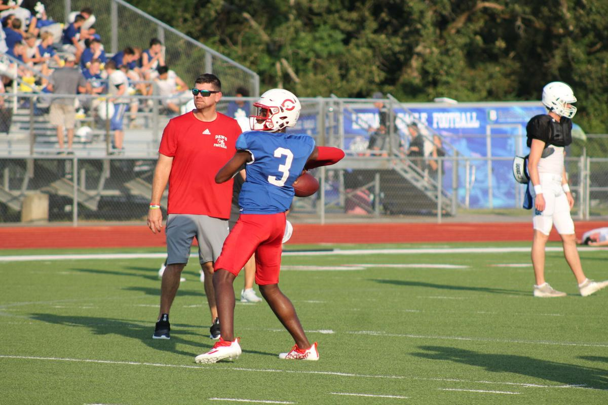 Football: Carthage vs Lindale scrimmage