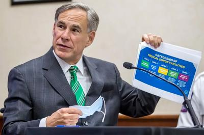 "Gov. Greg Abbott urges voluntary measures to curb coronavirus spread but says closing Texas will be the ""last option"""
