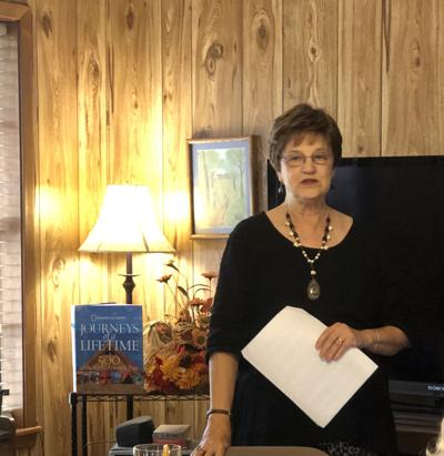 Carthage Book Club hears about the wonders of traveling