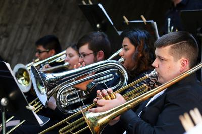 Panola College Jazz Band performs concert in the quad (copy)