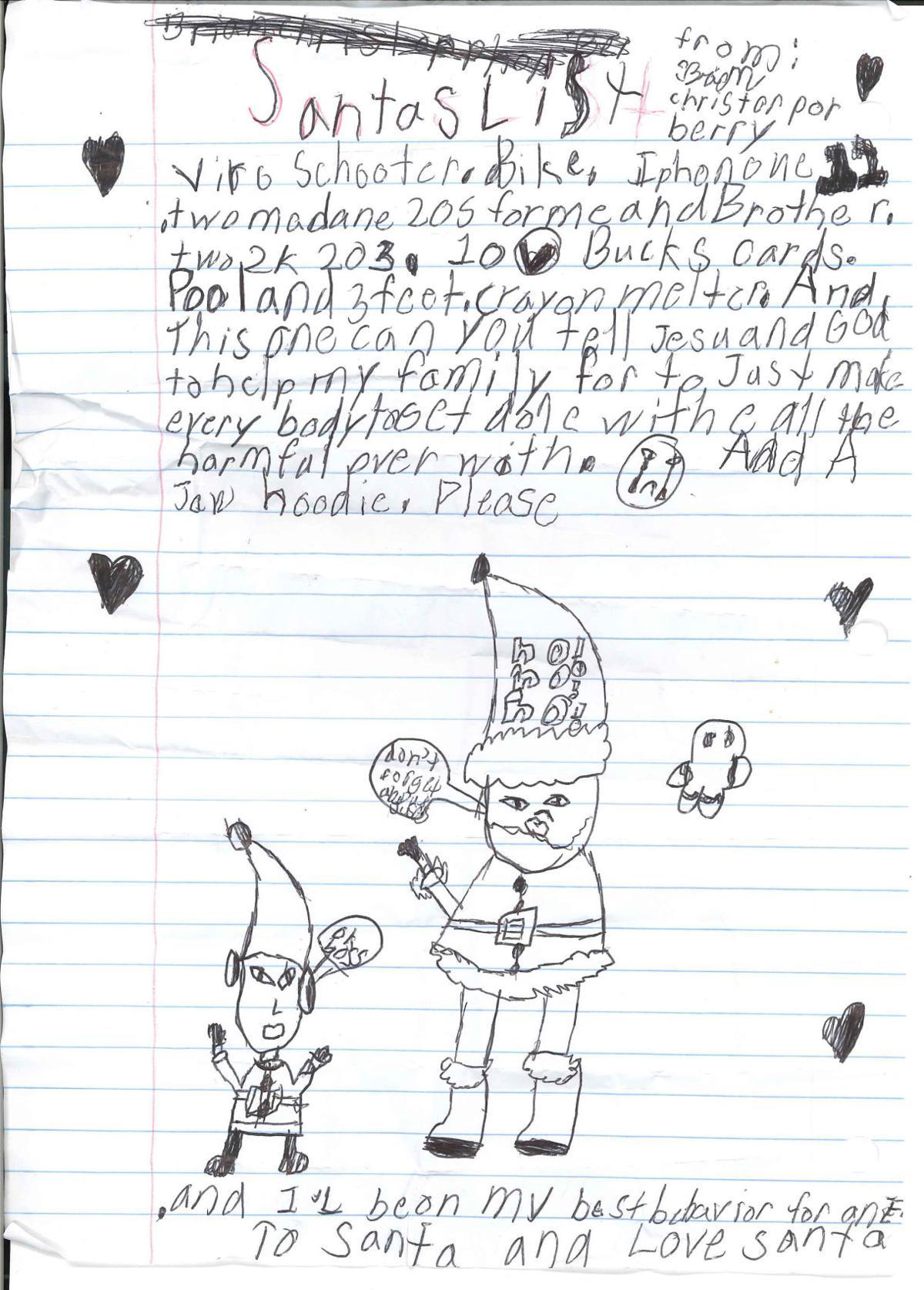 Panola County Kids Write Letters To Santa Lifestyles