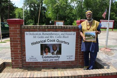 New sign installed at Cook's Quarters park in Carthage