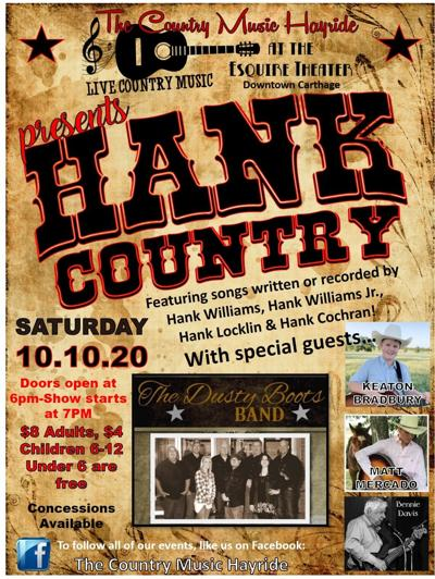 """Country Music Hayride plans """"HANK Country"""" event"""