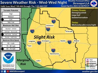 NWS: East Texas could see severe weather Wednesday