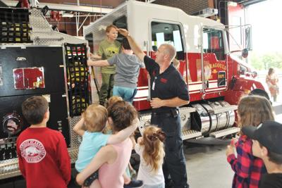 Christian homeschool group visits new fire station