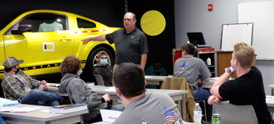 BRTC's auto collision class hears about newest paint technology