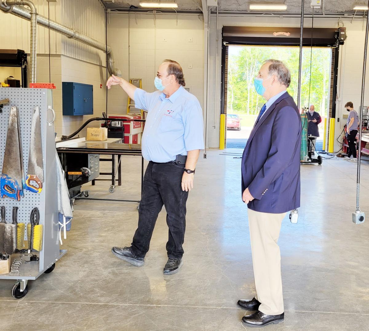 Boozman visits new PHS buildings