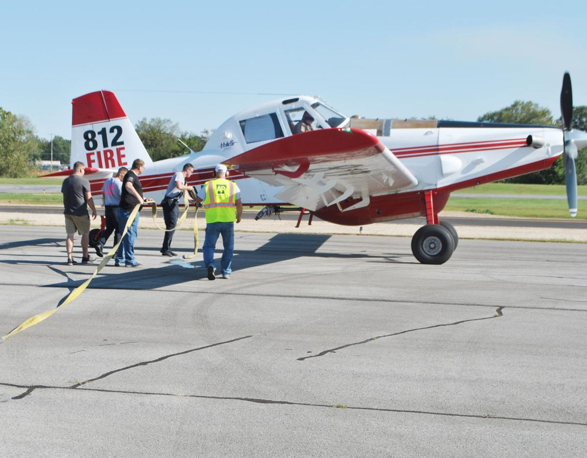 Firefighters get water bomber training