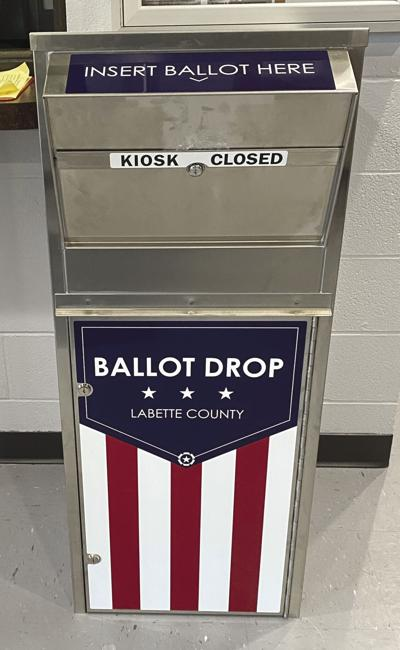 Ballot drop boxes are in place in Labette County
