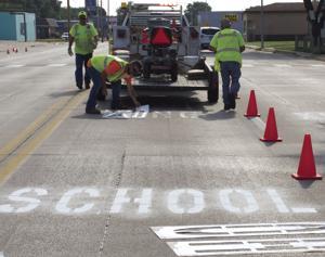 School Crossings Painted
