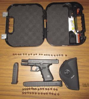 Police arrest man for illegal possession of weapon, seize handgun