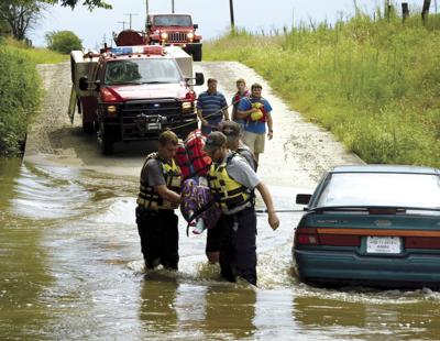 2 Parsons residents rescued from high water Thursday