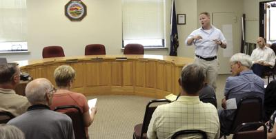 Watkins discusses his work,  immigration at meeting in Parsons