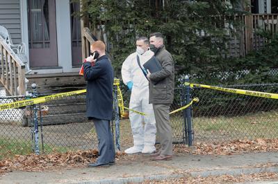 Investigators at 125 Main St., Manville