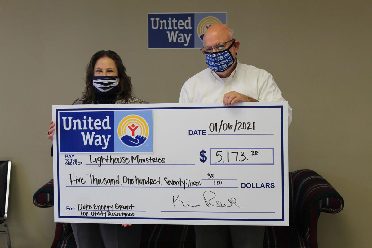 Lighthouse Ministries - United Way of Florence County Distributes $8,960.30 from Duke Energy Grant