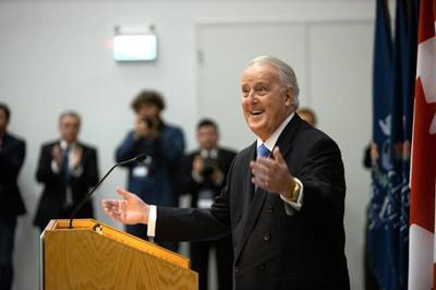 Brian Mulroney officially opens university institute in N.S. that bears his name