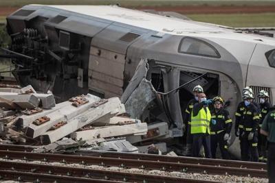 High-speed Spanish passenger train hits car on track; 2 dead
