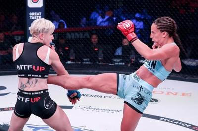 Canadian Julia Budd scores TKO win for third straight Bellator title defence