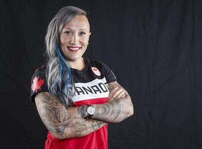Kaillie Humphries participates in USA bobsled push trials in unofficial role
