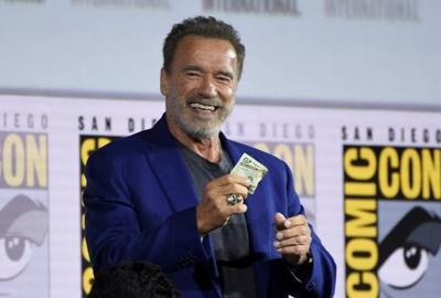 Hamilton, Schwarzenegger tease R-rated 'Terminator' sequel