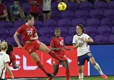 Centre back Vanessa Gilles making case to be part of Canadian Olympic roster