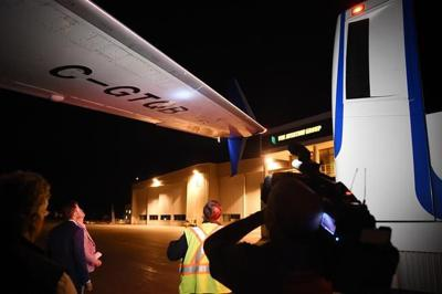Liberal election plane damaged in Victoria after media bus drives under wing
