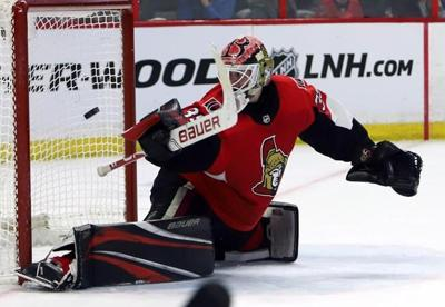 Goalie Marcus Hogberg signs two-year extension with Ottawa Senators