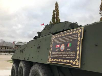 Monument unveiled to honour the Canadian Armed Forces ahead of Remembrance Day