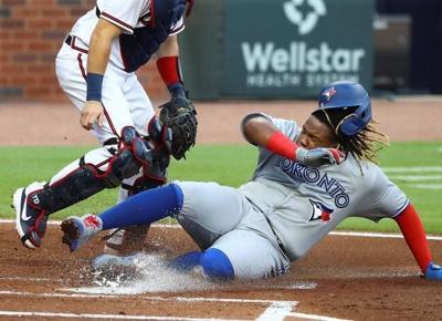 Ryu, 'pen team on 3-hitter, Blue Jays beat depleted Braves