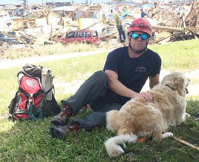 Chief Watkinson and dog