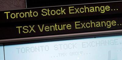 Toronto stock market falls as Canadian dollar hits nine-month high