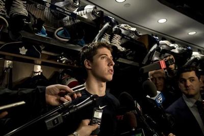 Mitch Marner mum on contract talks with Maple Leafs at his charity event