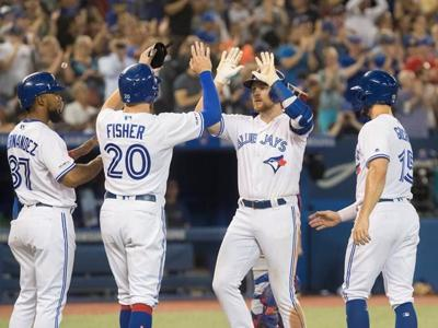 Brandon Drury hits first career grand slam in Blue Jays' 19-4 rout of Rangers