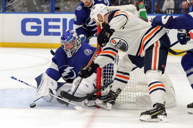 Oilers forward Kassian suspended 7 games for kicking Lightning defenceman Cernak