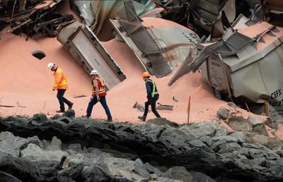 CN says bridge repairs underway near Hope, B.C., after 60 CP freight cars derail