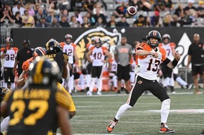 Veteran quarterback Mike Reilly back practising with Lions after ankle injury